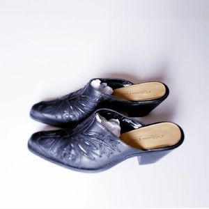 Black Mules by Coldwater Creek Size 9
